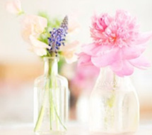 Flowers - in - glass- bottles