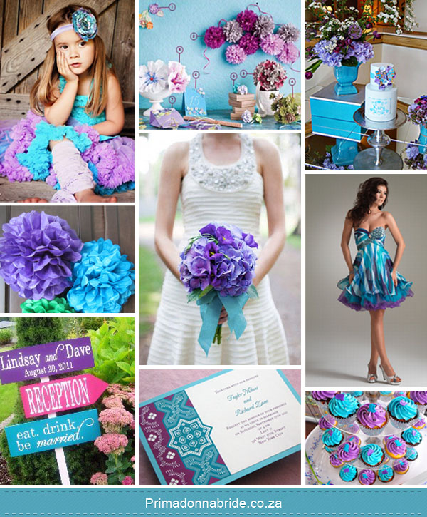 Purple and blue wedding inspiration Source Cupcakes Flowergirl Cake