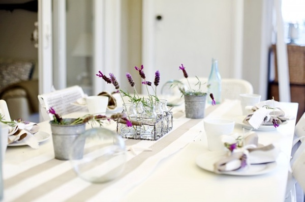 Lavender herb tablescape