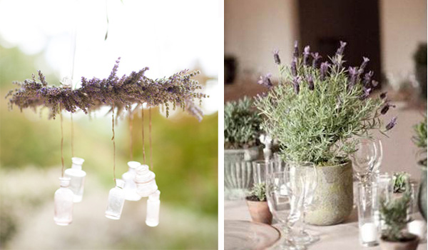 Lavender herb wedding ideas 5