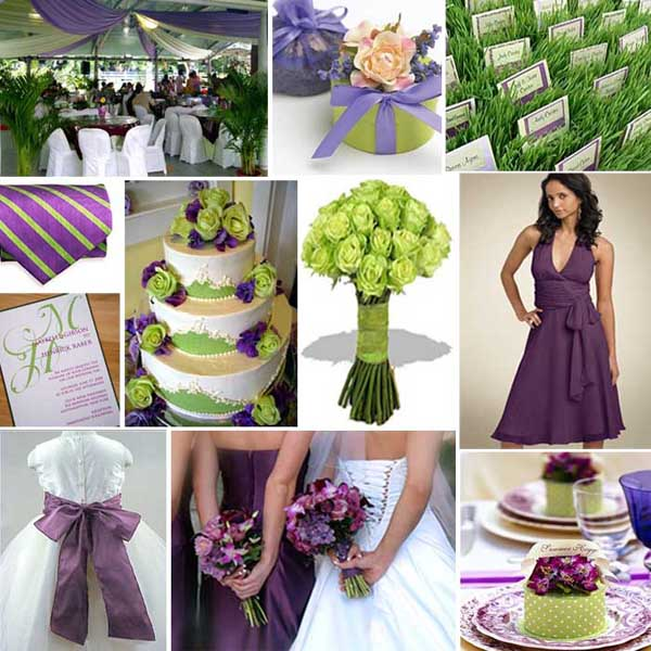 wedding ideas purple and green wedding colors 28294